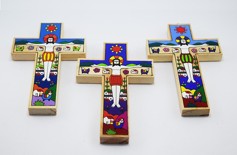 Wooden cross: The Christ of La Palma