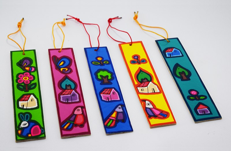 colorful pause bookmarks