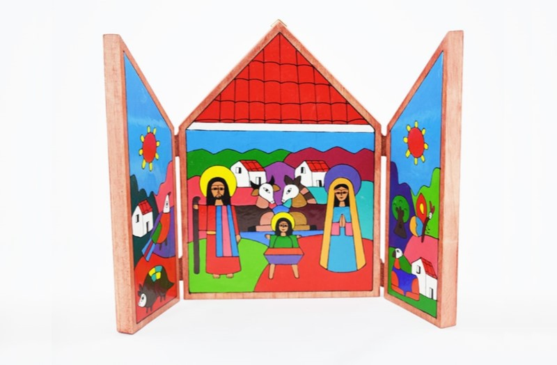 Countryside Nativity wooden Holy Birth